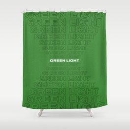 Green Light 2 Shower Curtain