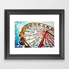 Carnival Ferris Wheel Framed Art Print