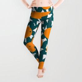 Art Deco Minimalist Orange Grove Leggings