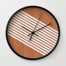 Mid Century Modern Abstract Lines Left Wall Clock