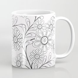 Floral pattern on a white background. Coffee Mug