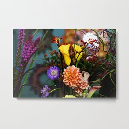 a gathering of flowers Metal Print