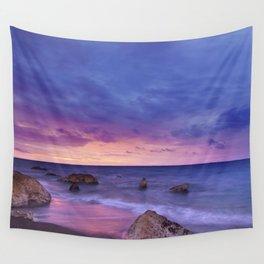 Ocean Beach Dusk Sunset Photography Wall Tapestry