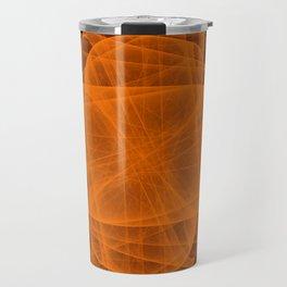 Eternal Rounded Cross in Orange Brown Travel Mug