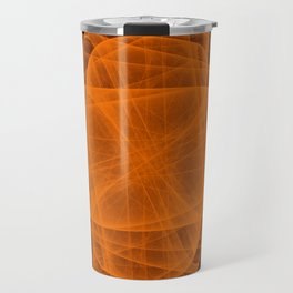 Eternal Rounded Cross in Orange Brown Travel Mug