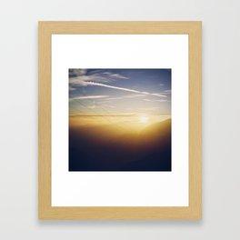 Sunset & Wires Framed Art Print