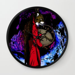 WOLF CAVE Wall Clock