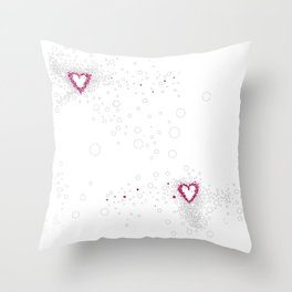 Digital Unfinished Love Intoxication Throw Pillow