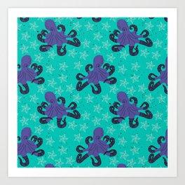 Darien the Hipster Octopus! Art Print