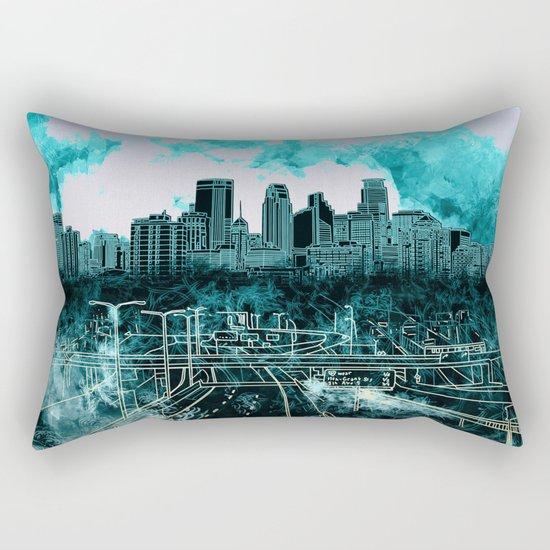 minneapolis city skyline Rectangular Pillow
