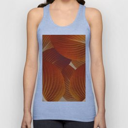 Leaves in Terracotta Color #decor #society6 #buyart Unisex Tank Top