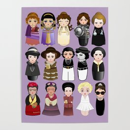 Kokeshis Women in the History Poster