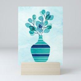 Silver Dollar Eucalyptus Leaves Mini Art Print