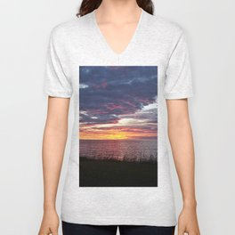Painted Skies at Sunset Unisex V-Neck