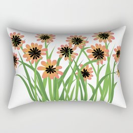 Brightly Colored Flowers Rectangular Pillow
