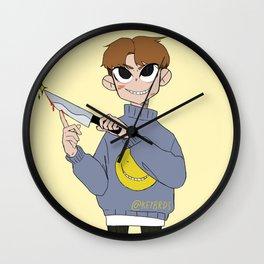 Knife Boy Wall Clock