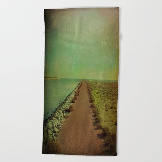 The end of the road Beach Towel