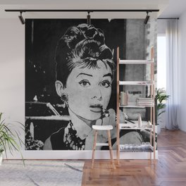 Miss Golightly - black Wall Mural