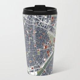 Seville city map engraving Travel Mug