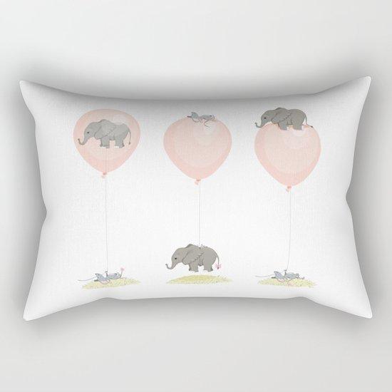 Elephant, globe and mouse Rectangular Pillow
