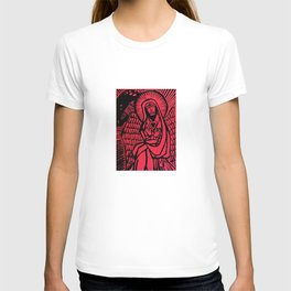 Me - Red - Traditional Surrealism Print T-shirt
