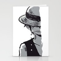 luffy Stationery Cards featuring Sad Luffy by cici22