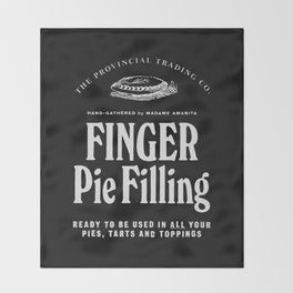 Finger Pie Filling Throw Blanket