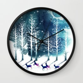 Winter Night 2 Wall Clock