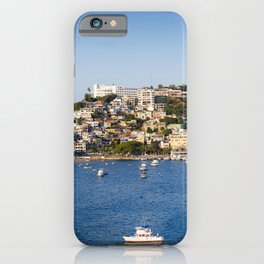 Mexico Acapulco Hill Bay Pier Motorboat Houses Cities Berth Marinas speedboat powerboat Building iPhone Case