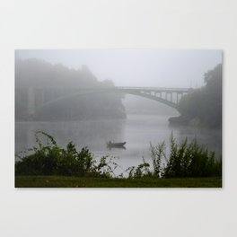 Foggy Fishing Day on the Delaware River Canvas Print