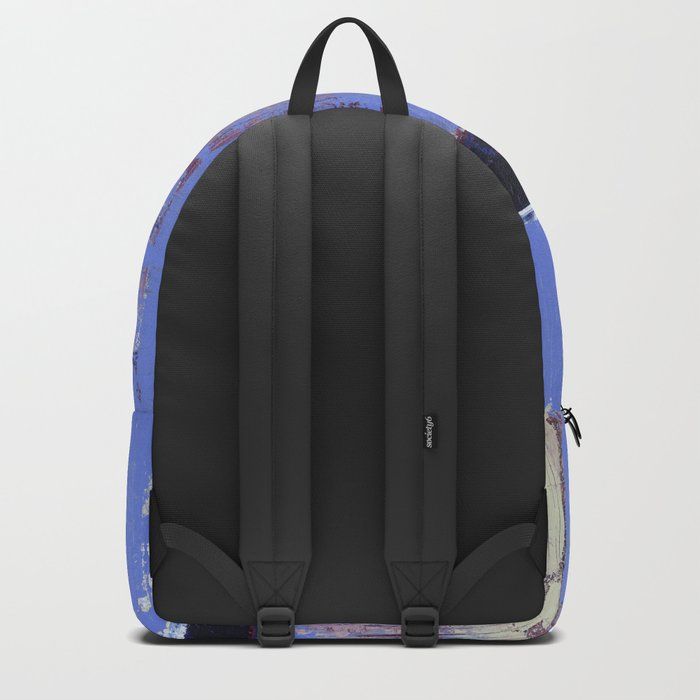 Chagrin Cornflower Blue Abstract Painting Modern Art Backpack