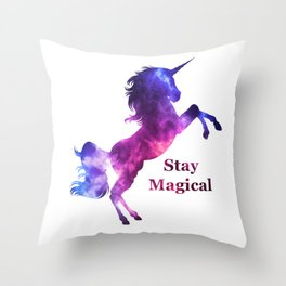Stay Magical Unicorn Throw Pillow