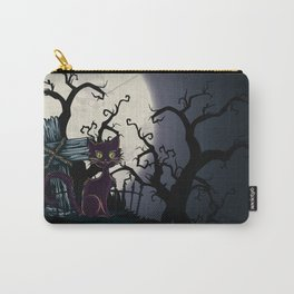 Vintage Halloween Cemetery Cat Carry-All Pouch