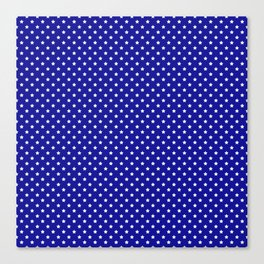 Blue and White Stars Canvas Print