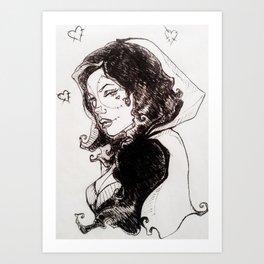 Caperucita Muerta Art Print