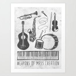 Weapons Of Mass Creation - Music (on paper) Art Print