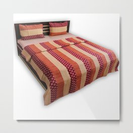 Indian Coverlets Quilts Metal Print