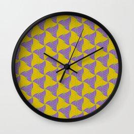 Trinity Pattern Yellow Purple Wall Clock