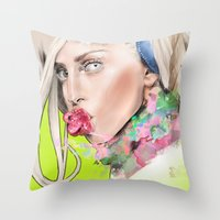 artrave Throw Pillows featuring ArtRAVE by Dafni