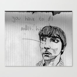 you have to do multi hits! Canvas Print