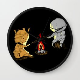 Bonfire Buddies Wall Clock
