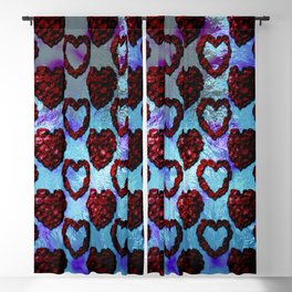 Gothic Rose Petal Hearts Blackout Curtain