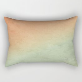 Impressions in Hues of Orange, Mint Green & Yellow Home Decor Rectangular Pillow