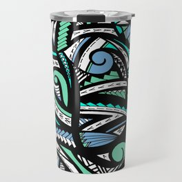 Tribal Weave of Waves  Travel Mug