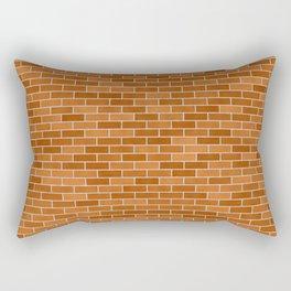 Brown Brick wall Rectangular Pillow