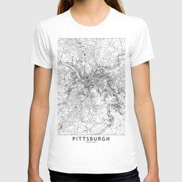 Pittsburgh White Map T-shirt