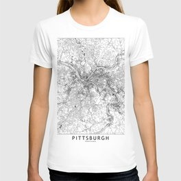 Pittsburgh White Map T-shirt