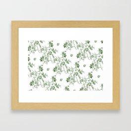 Penis Pattern GREEN Framed Art Print