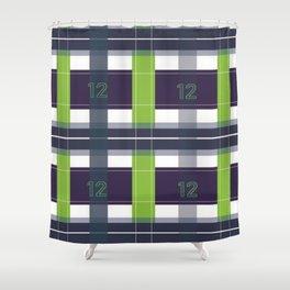 Seattle Plaid Shower Curtain