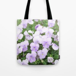Purple small pansy garden Tote Bag